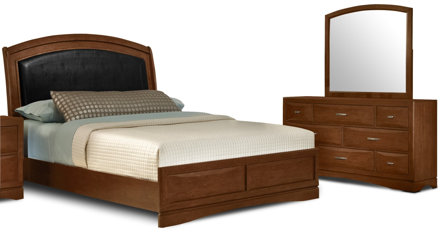 Beverly 5 piece king bedroom package the brick for Bedroom furniture package deals