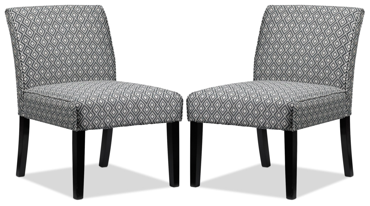 Upton 2-Pack of Slipper Chairs - Grey