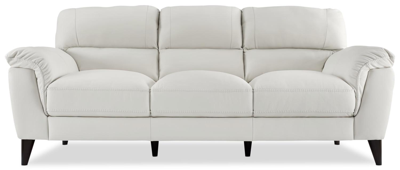 Chloe Genuine Leather Sofa U2013 White