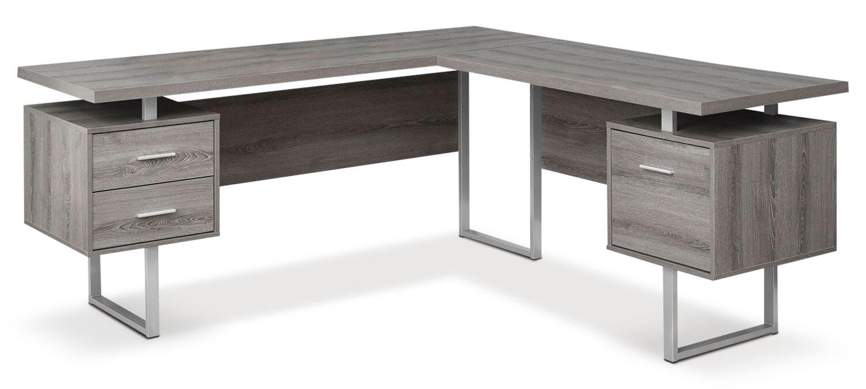 Bowen Corner Desk - Dark Taupe