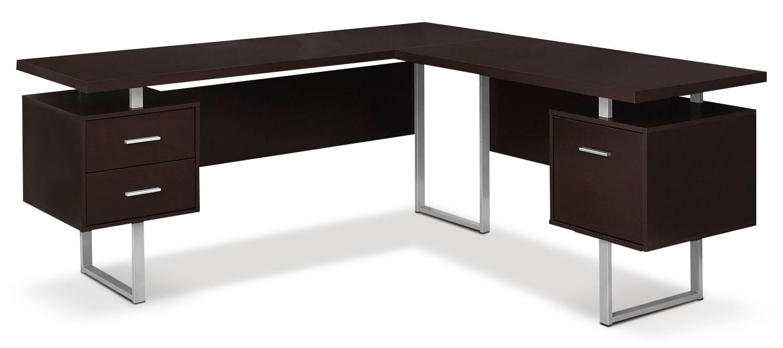 Home Office Furniture - Bowen Corner Desk - Cappuccino