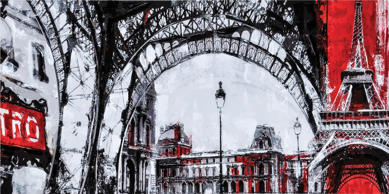 "Accent and Occasional Furniture - Urban Paris Canvas Art (60"" x 30"")"