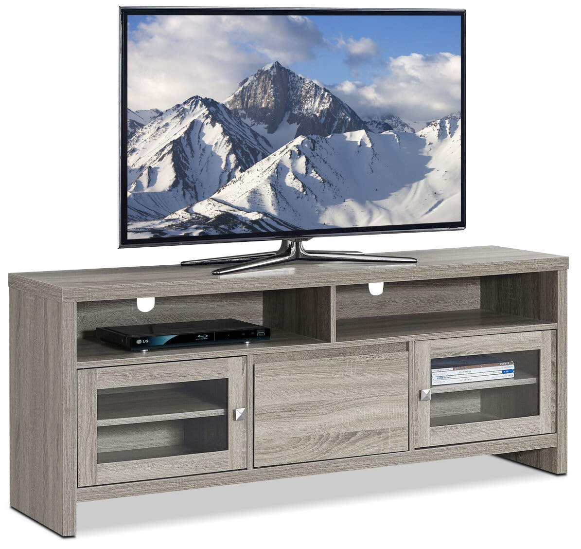 Callery TV Stand - Dark Taupe
