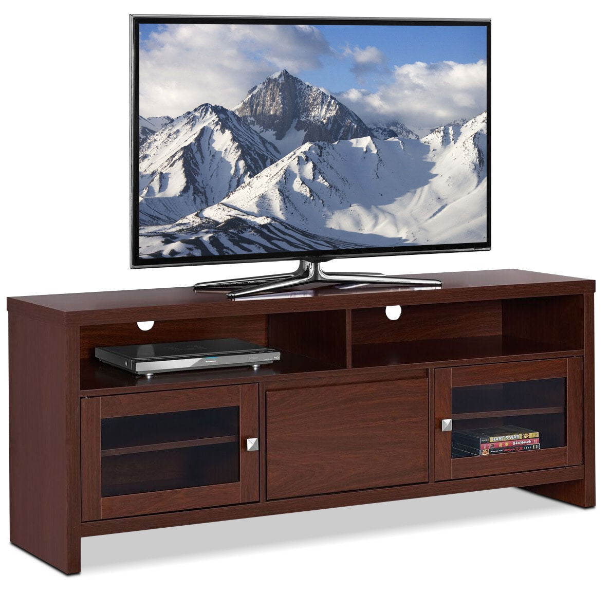 Entertainment Furniture - Callery TV Stand - Warm Cherry
