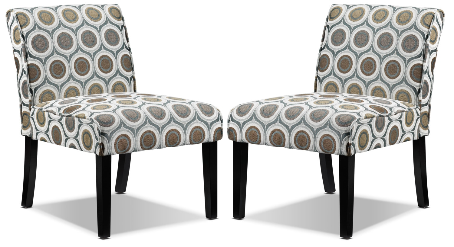Audrina 2-Pack of Slipper Chairs