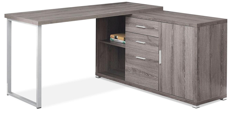 Branson Corner Desk - Dark Taupe