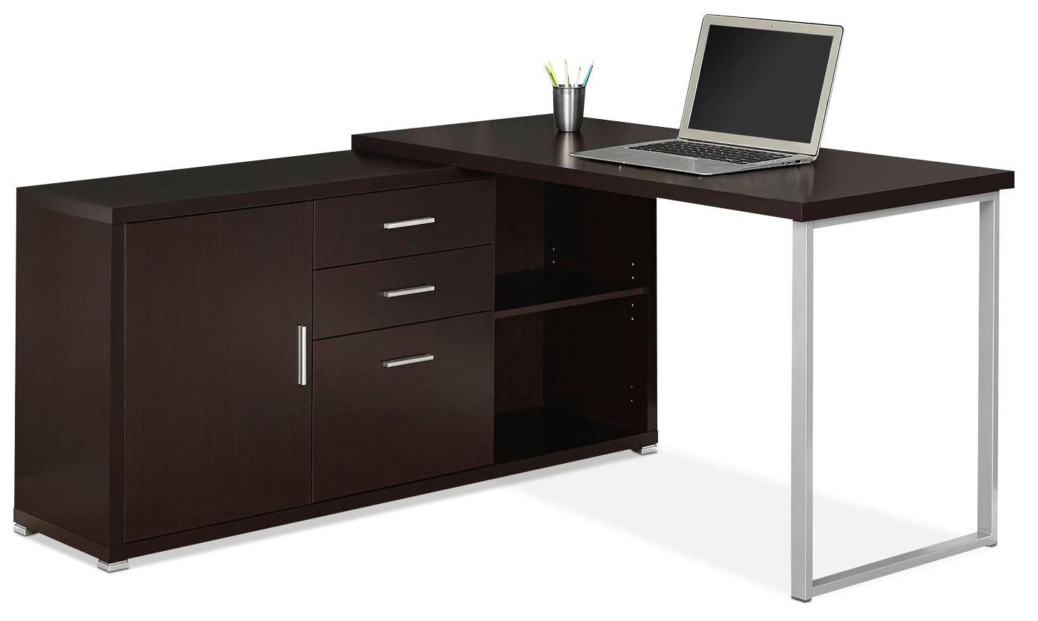 Home Office Furniture - Branson Corner Desk - Cappuccino