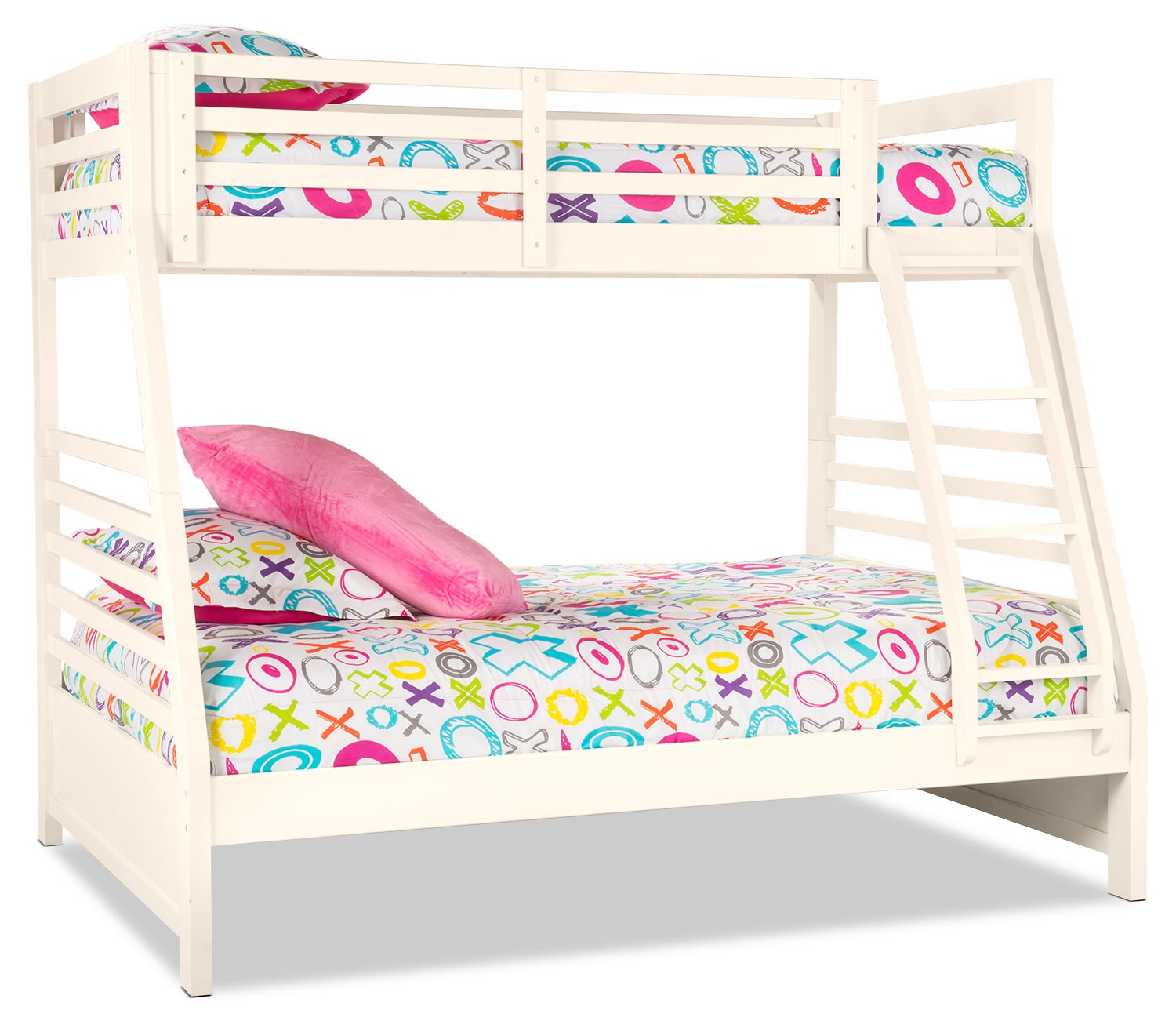 Chadwick Twin/Full Bunk Bed – White
