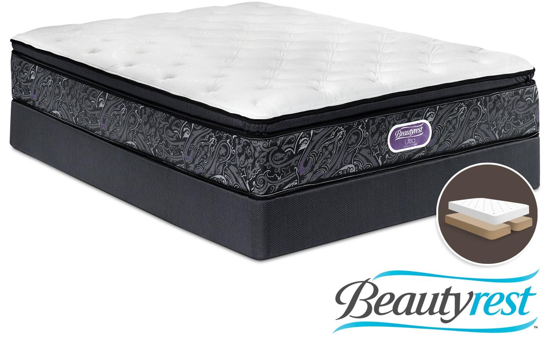 Simmons Beautyrest Ultra Haley Firm Queen Mattress And Split Boxspring Set Leon 39 S