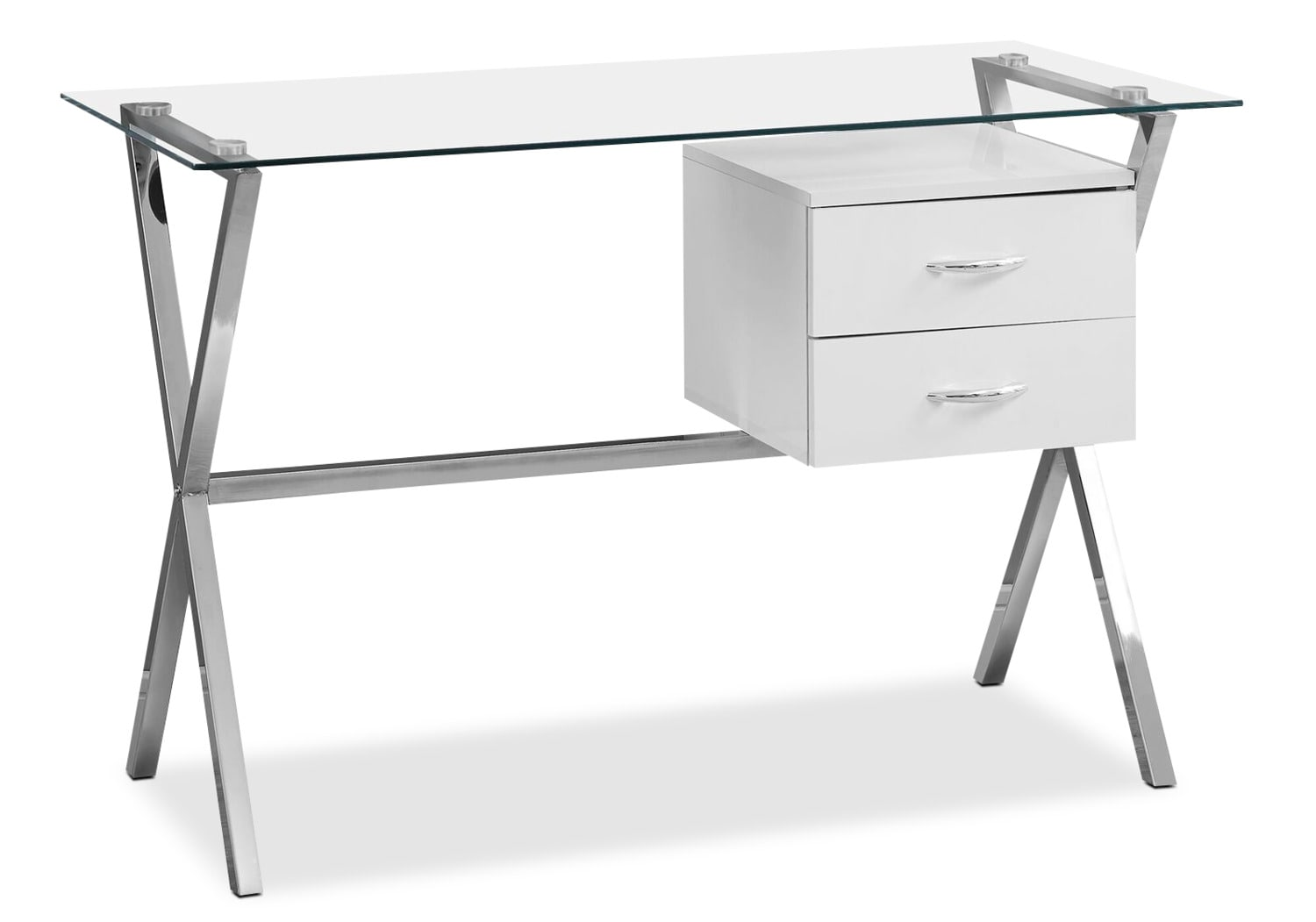 Home Office Furniture - Alexis Desk - Glossy White
