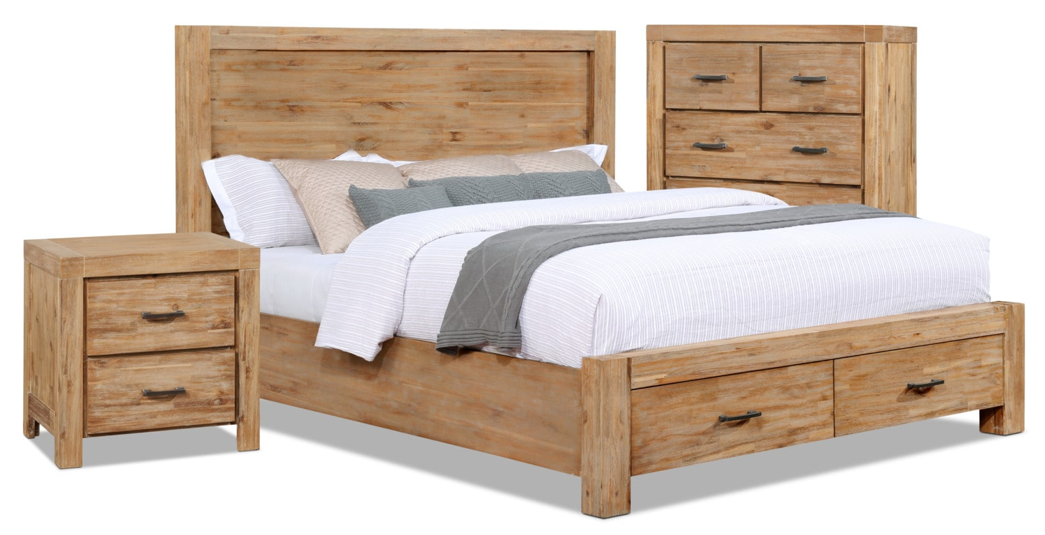 Acadia 5-Piece King Storage Bedroom Package with Chest and Nightstand