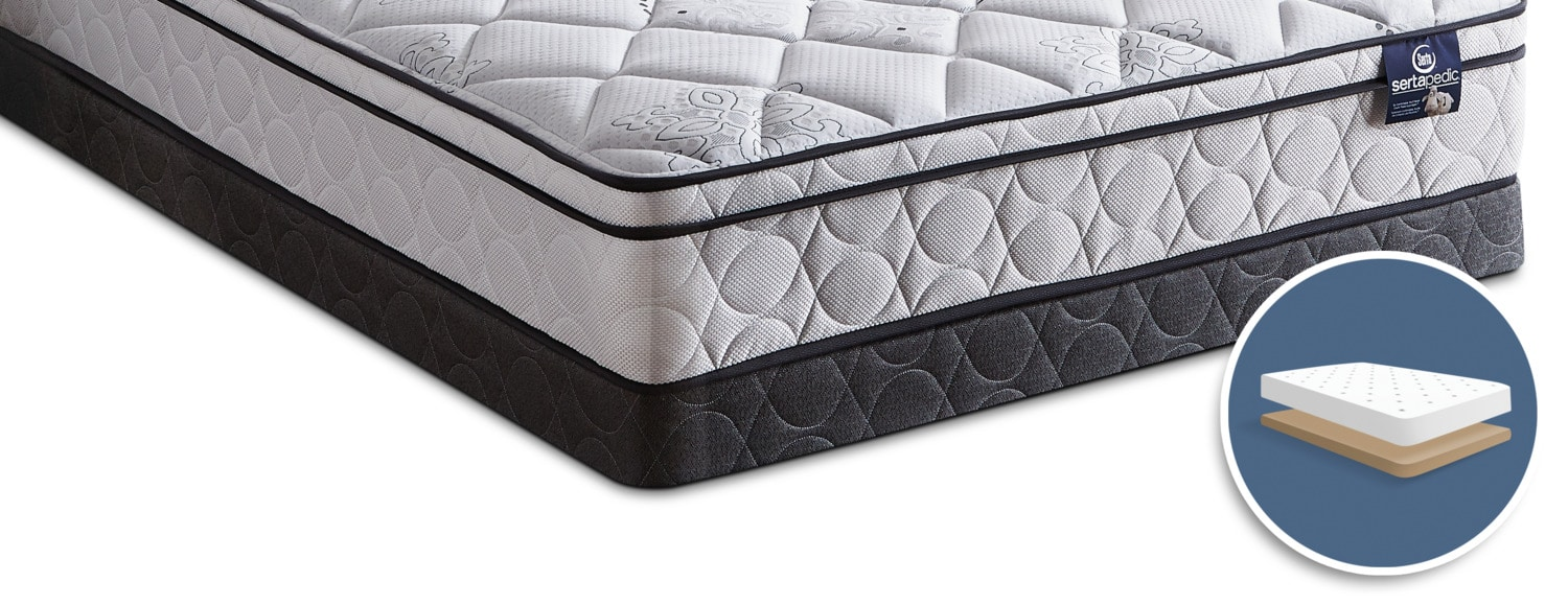 Mattresses and Bedding - Serta Sertapedic 2017 Low-Profile Twin Boxspring