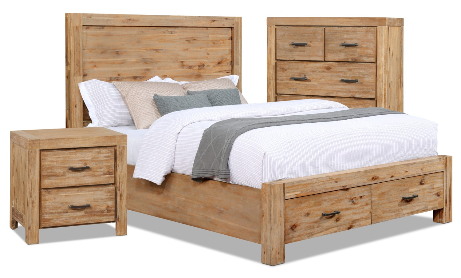 Acadia 5-Piece Queen Storage Bedroom Package with Chest and Nightstand