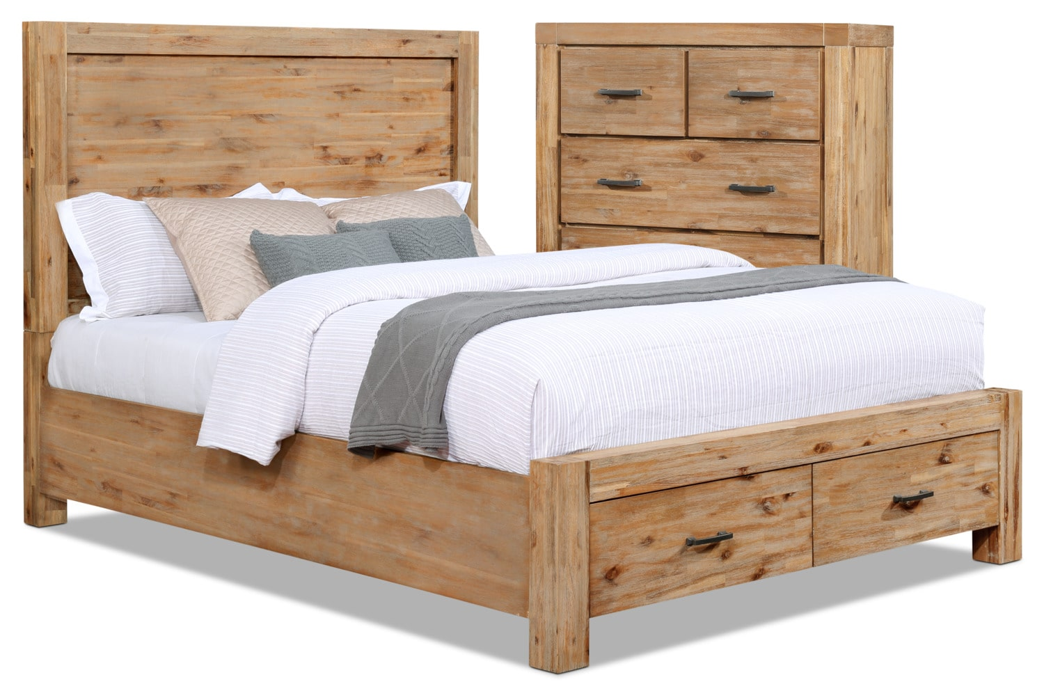 Acadia 4-Piece Queen Storage Bed and Chest Package