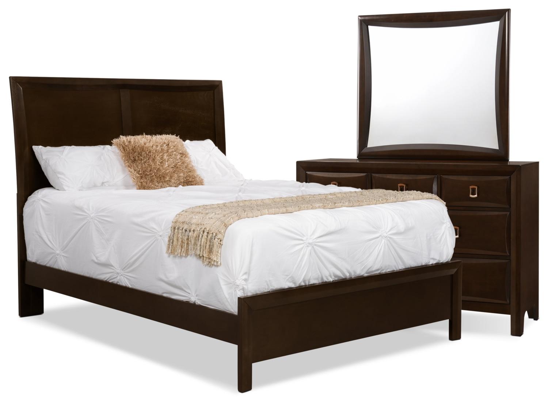 Bedroom Furniture - Bella 5-Piece King Panel Bedroom Collection
