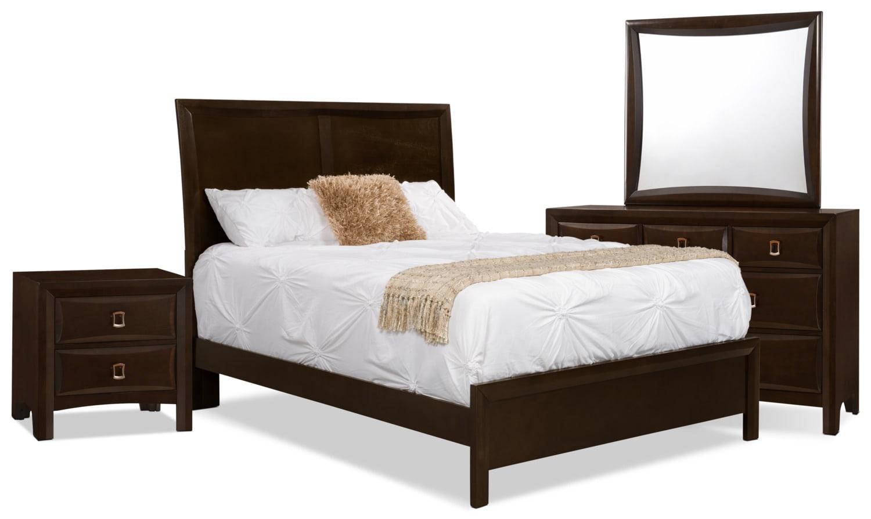 Bedroom Furniture - Bella 6-Piece Queen Panel Bedroom Collection