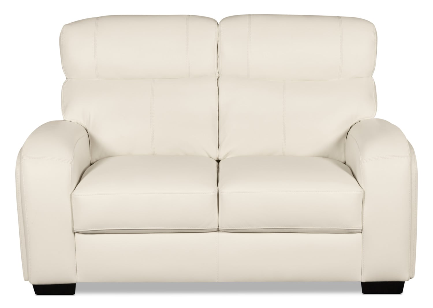 gwen genuine leather loveseat u2013 beige