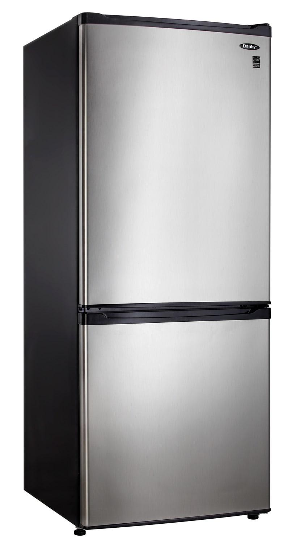 Danby Stainless Steel Bottom-Mount Refrigerator (9.2 Cu. Ft.) - DFF092C1BSLDB