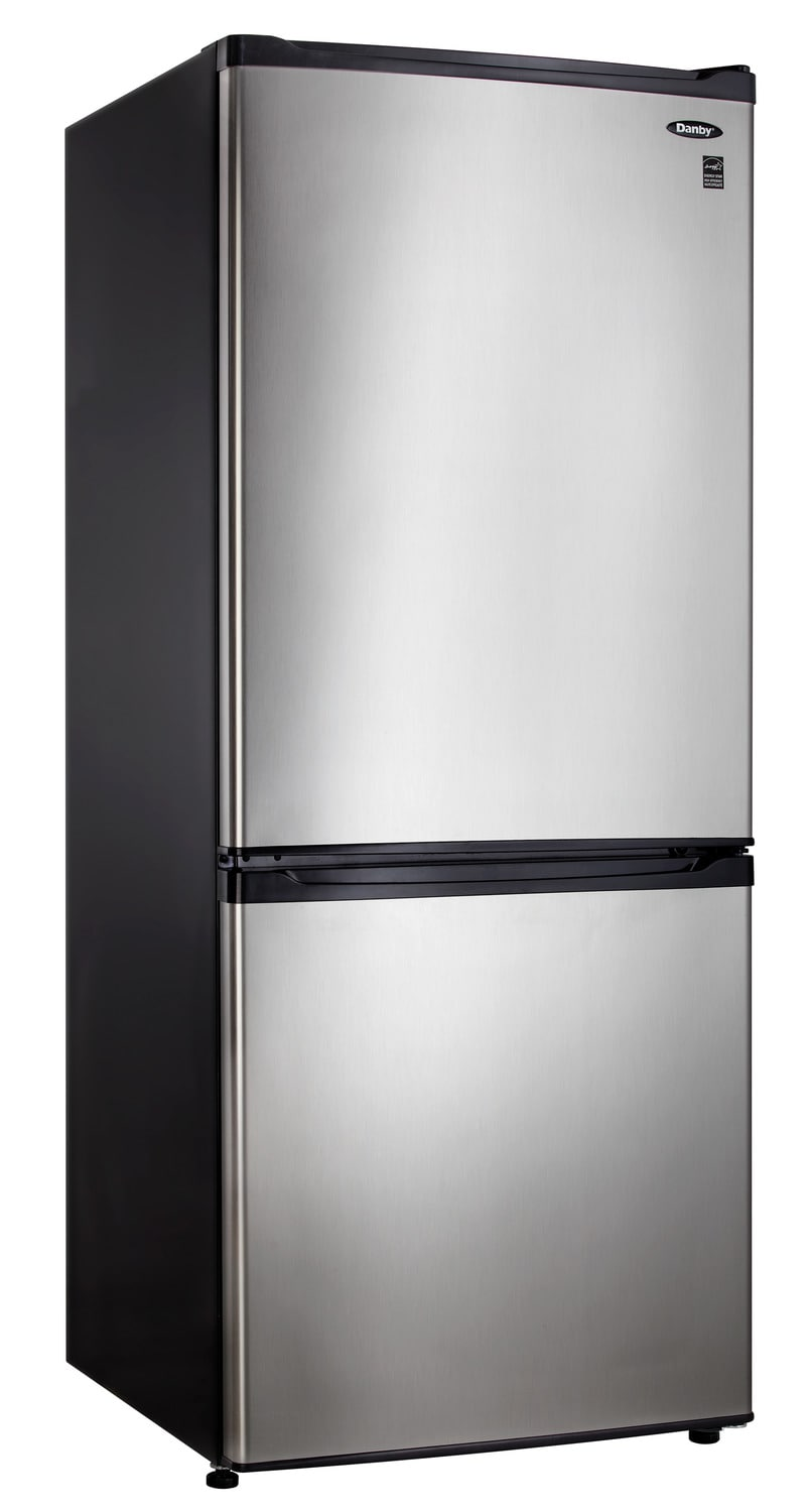 Refrigerators and Freezers - Danby Stainless Steel Bottom-Mount Refrigerator (9.2 Cu. Ft.) - DFF092C1BSLDB
