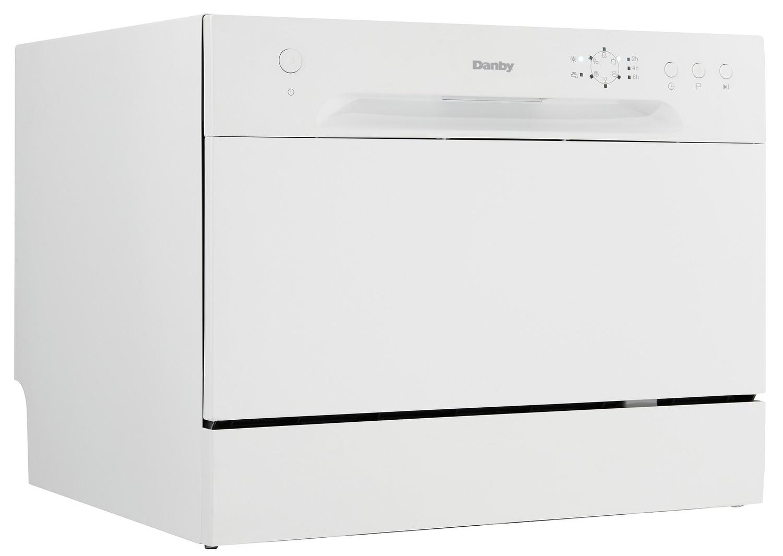 "Clean-Up - Danby White Countertop 21.7"" Dishwasher - DDW621WDB"