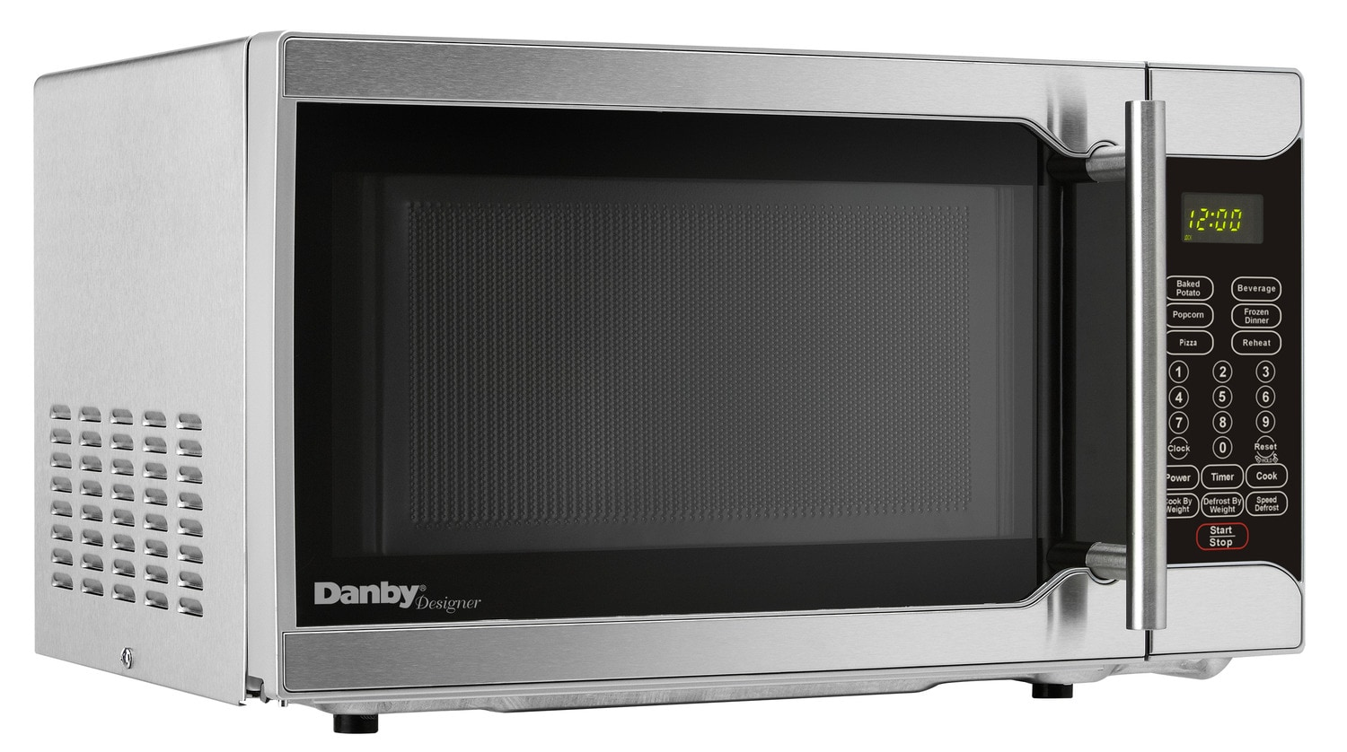 Cooking Products - Danby Stainless Steel Countertop Microwave (0.7 Cu. Ft.) - DMW07A2SSDD
