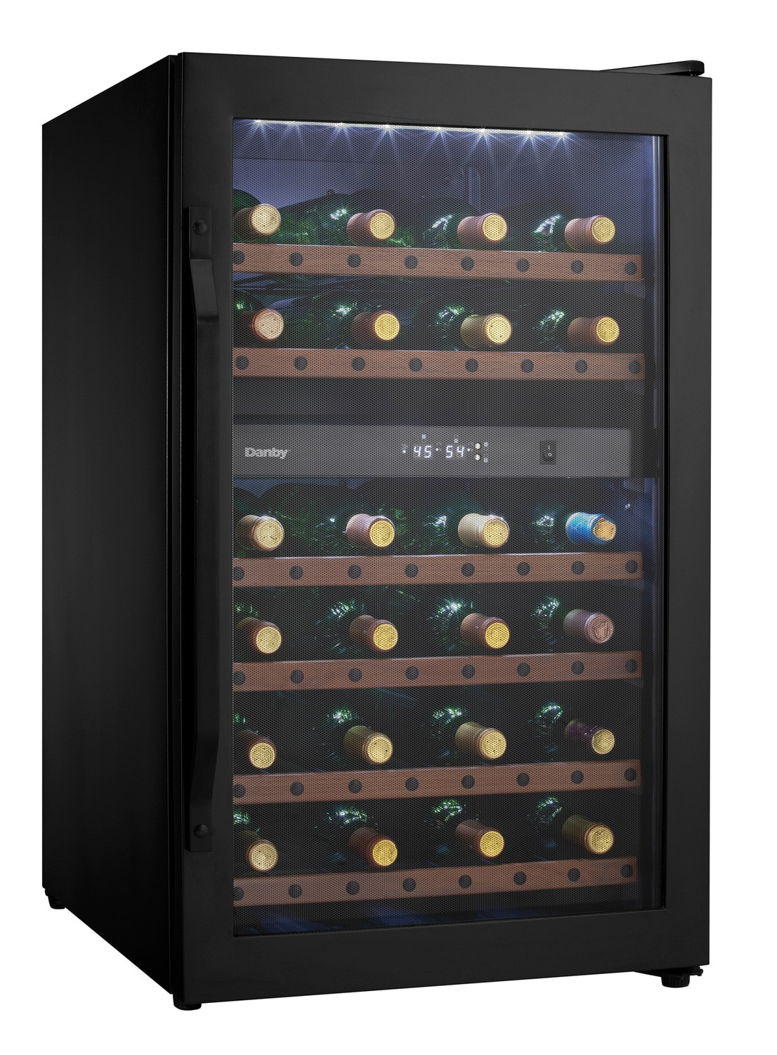 danby black dualzone wine cooler 4 cu ft dwc040a2bdb