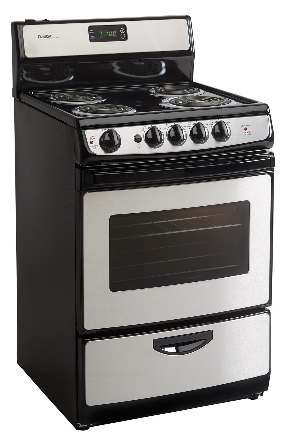 Cooking Products - Danby Stainless Steel Freestanding Electric Range (3 Cu. Ft.) - DER243BSSC