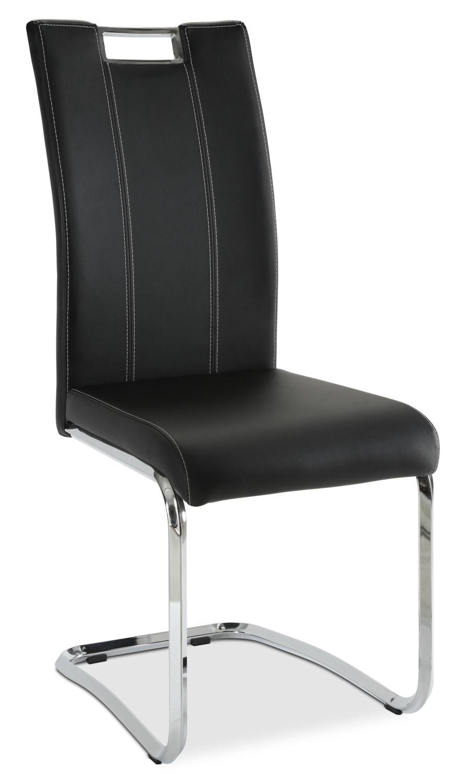 Tuxedo Dining Chair – Black