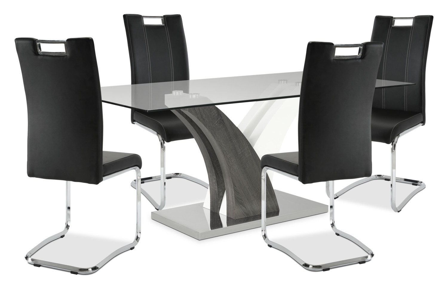 Tuxedo 5-Piece Dining Package – Black
