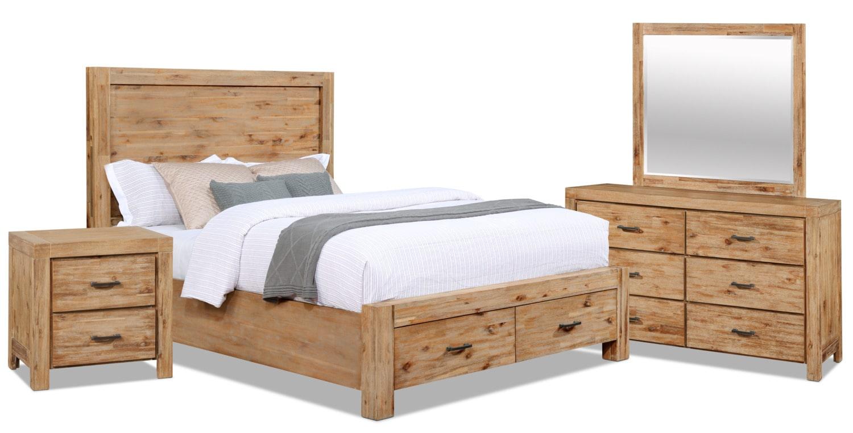 Bedroom Furniture - Acadia 6-Piece Queen Storage Bedroom Package