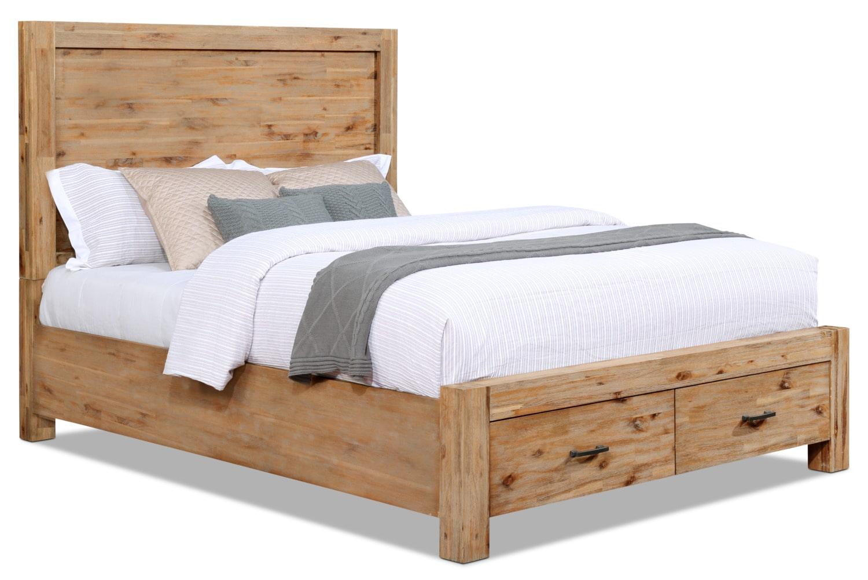 Bedroom Furniture - Acadia Queen Storage Bed