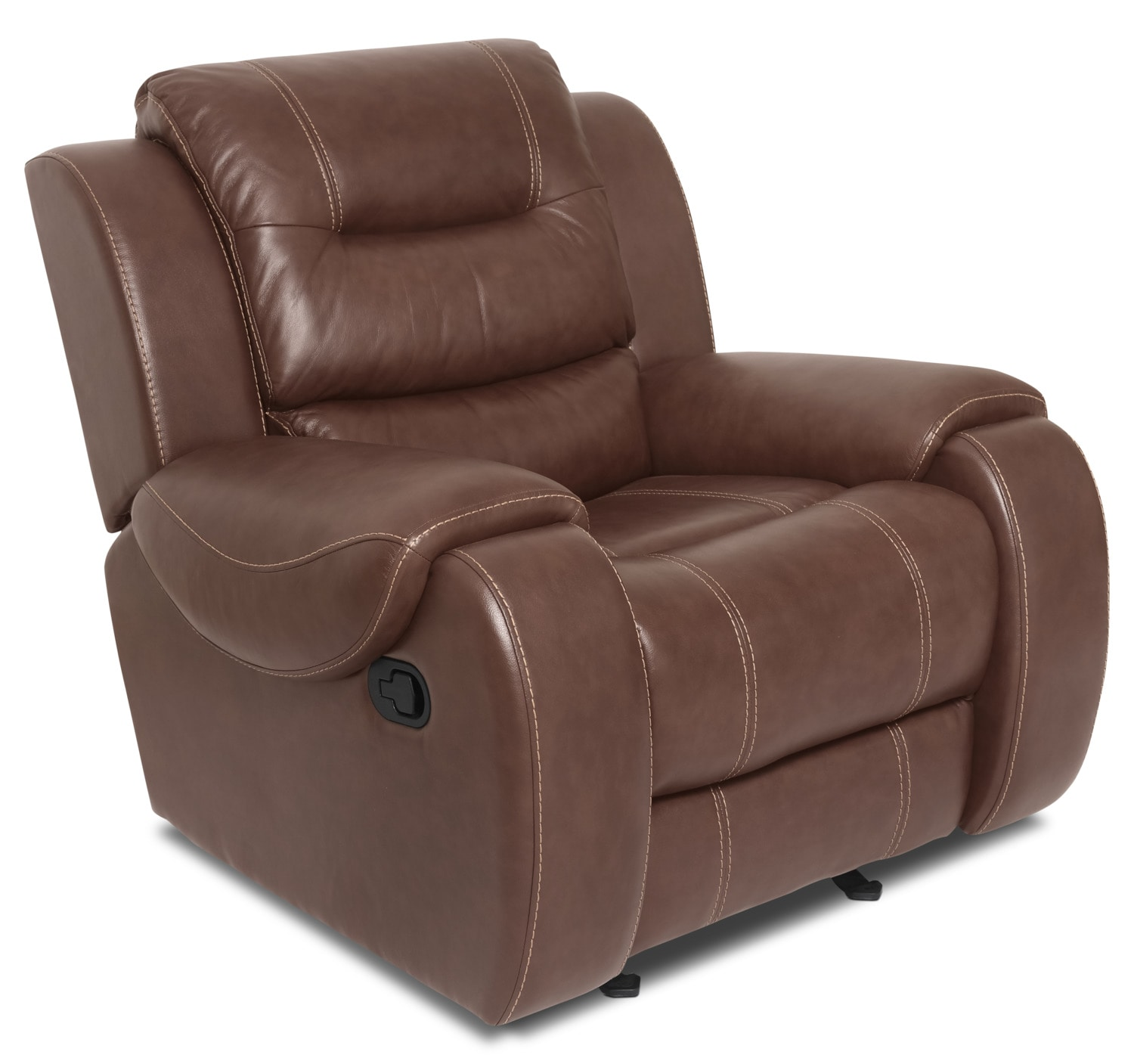 Nick Genuine Leather Reclining Chair – Brown