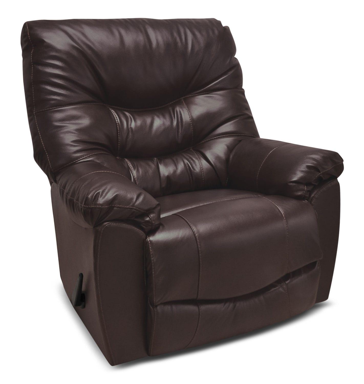 Living Room Furniture - 4595 Genuine Leather Rocker Reclining Chair – Espresso