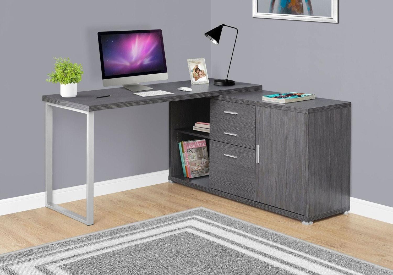 Meubles de bureau - En ligne seulement - Branson Bureau d'ordinateur – gris