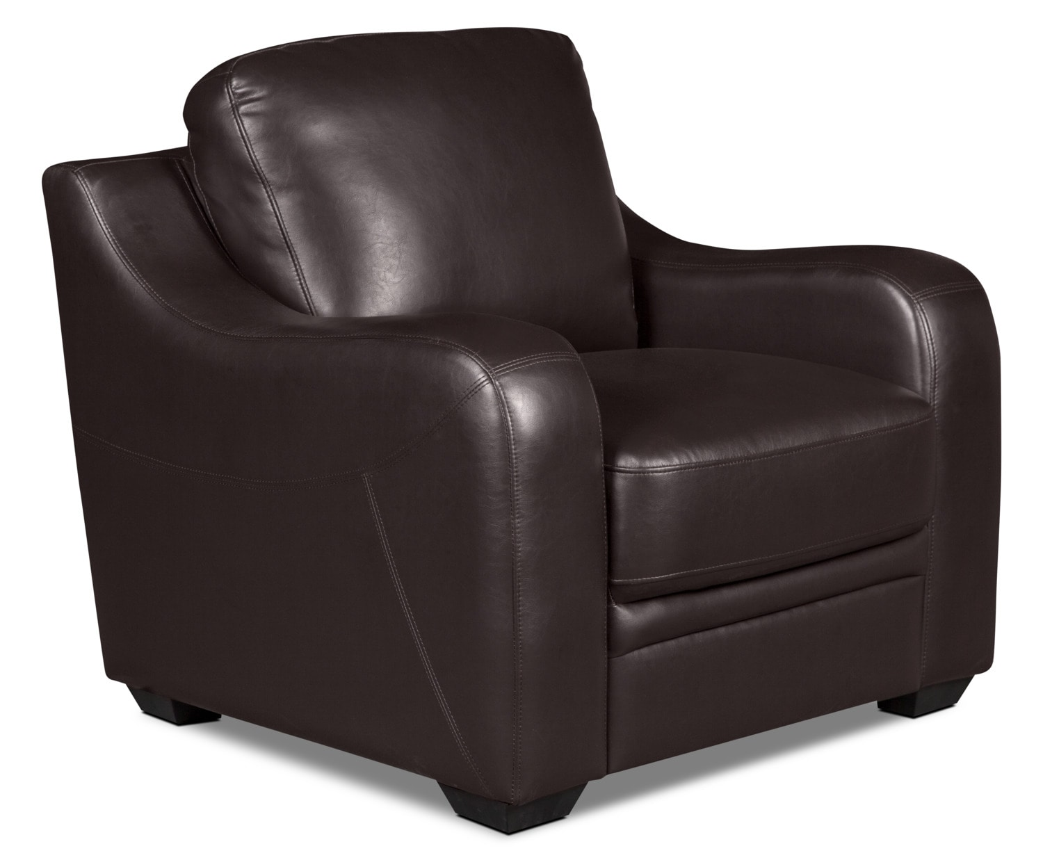 Benson Leather-Look Fabric Chair – Brown