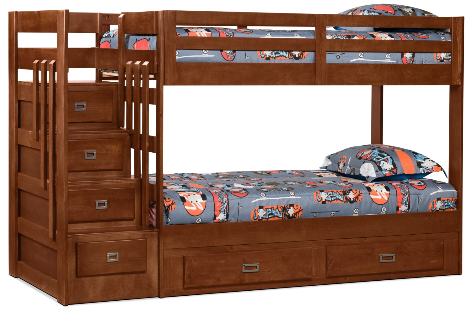 Berkeley Staircase Bunk Bed with Storage Trundle