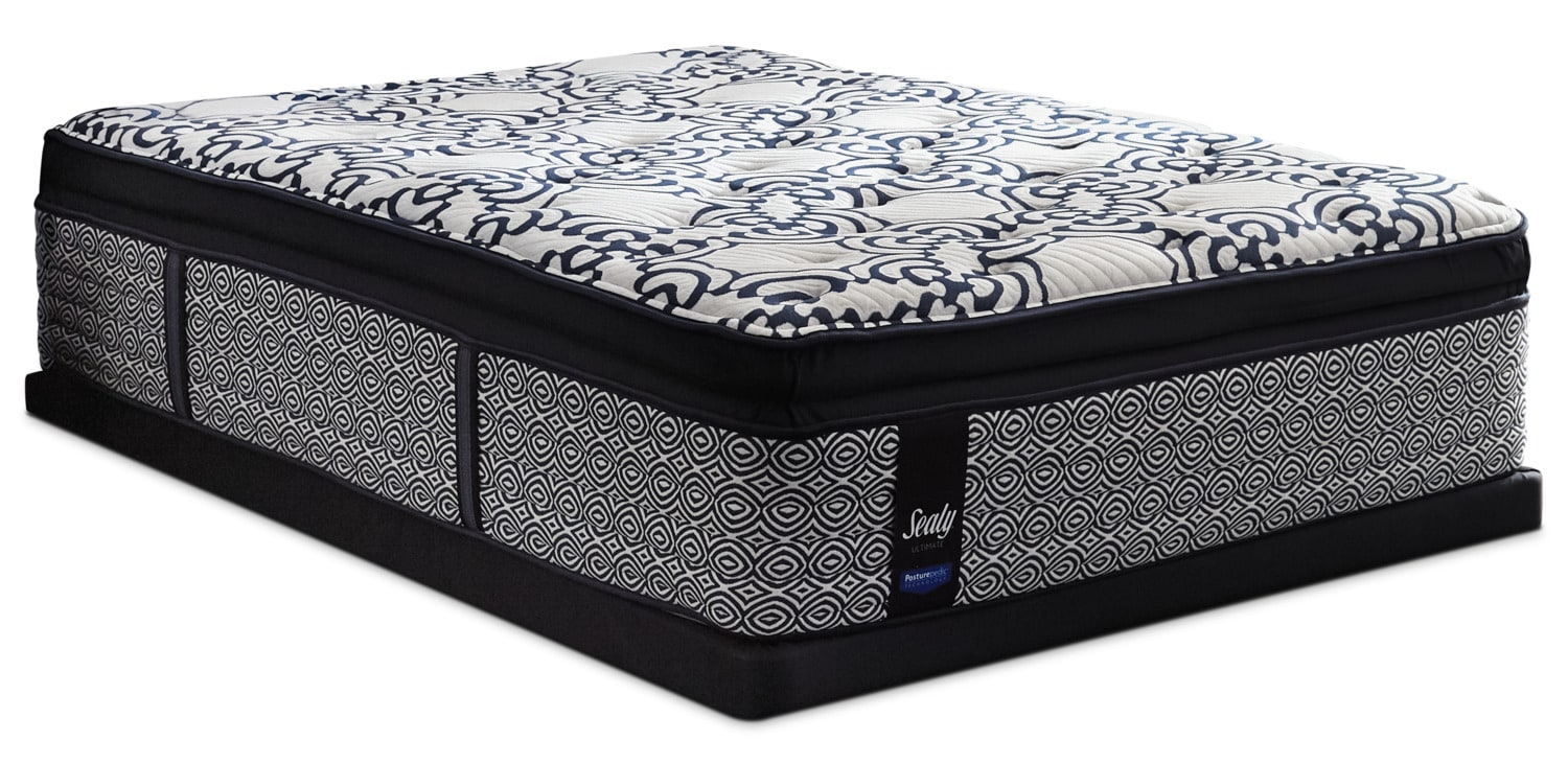 Sealy Posturepedic Ultimate Silverberry Euro Pillow-Top Plush Queen Mattress Set