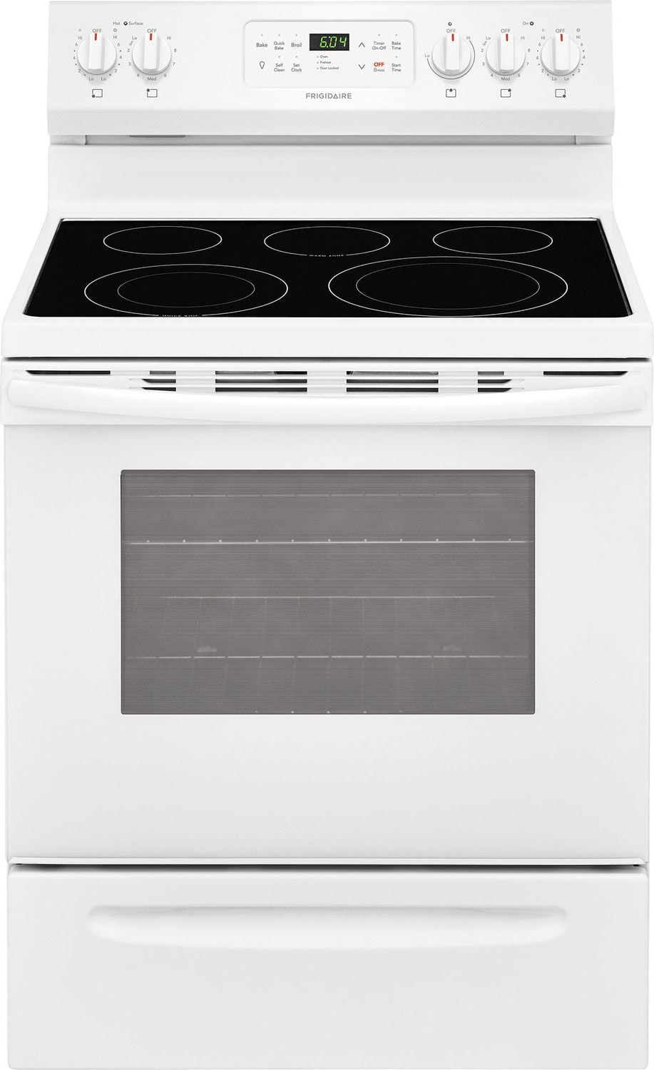 Frigidaire White Freestanding Electric Convection Range (5.4 Cu. Ft.) - CFEF3056TW