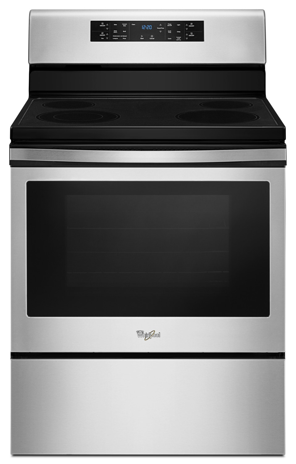 Whirlpool® 5.3 Cu. Ft. Guided Electric Front Control Range with Fan Convection Cooking