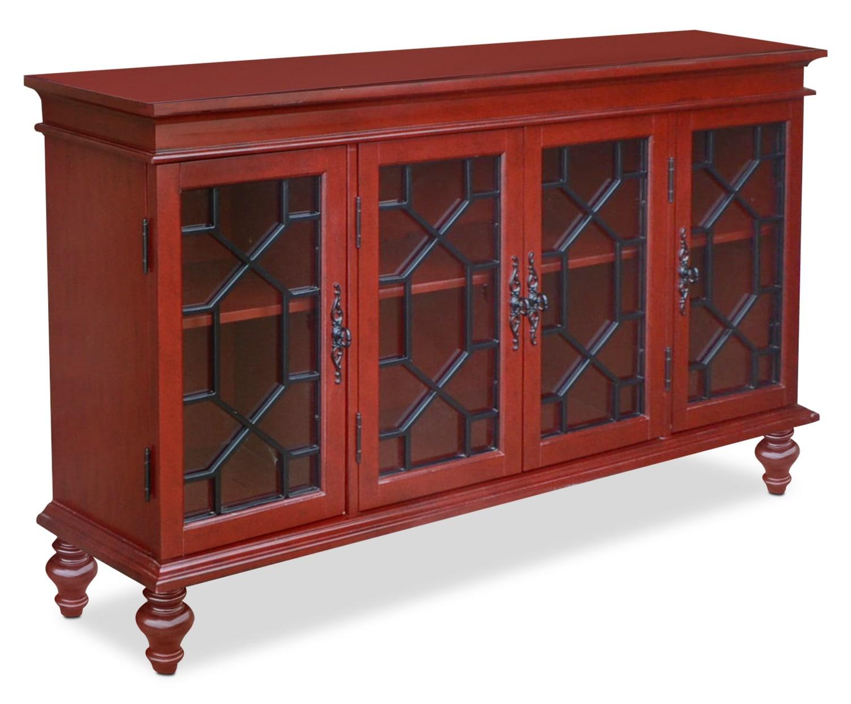 Décoratif et Occasionnel - Grande armoire décorative Rigolet - rouge