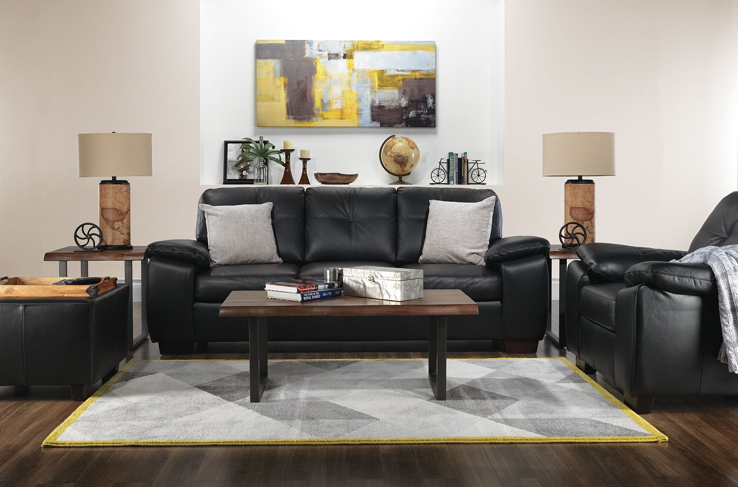 The Naples Living Room Collection - Black