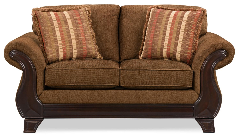 Living Room Furniture - Ivan Chenille Loveseat
