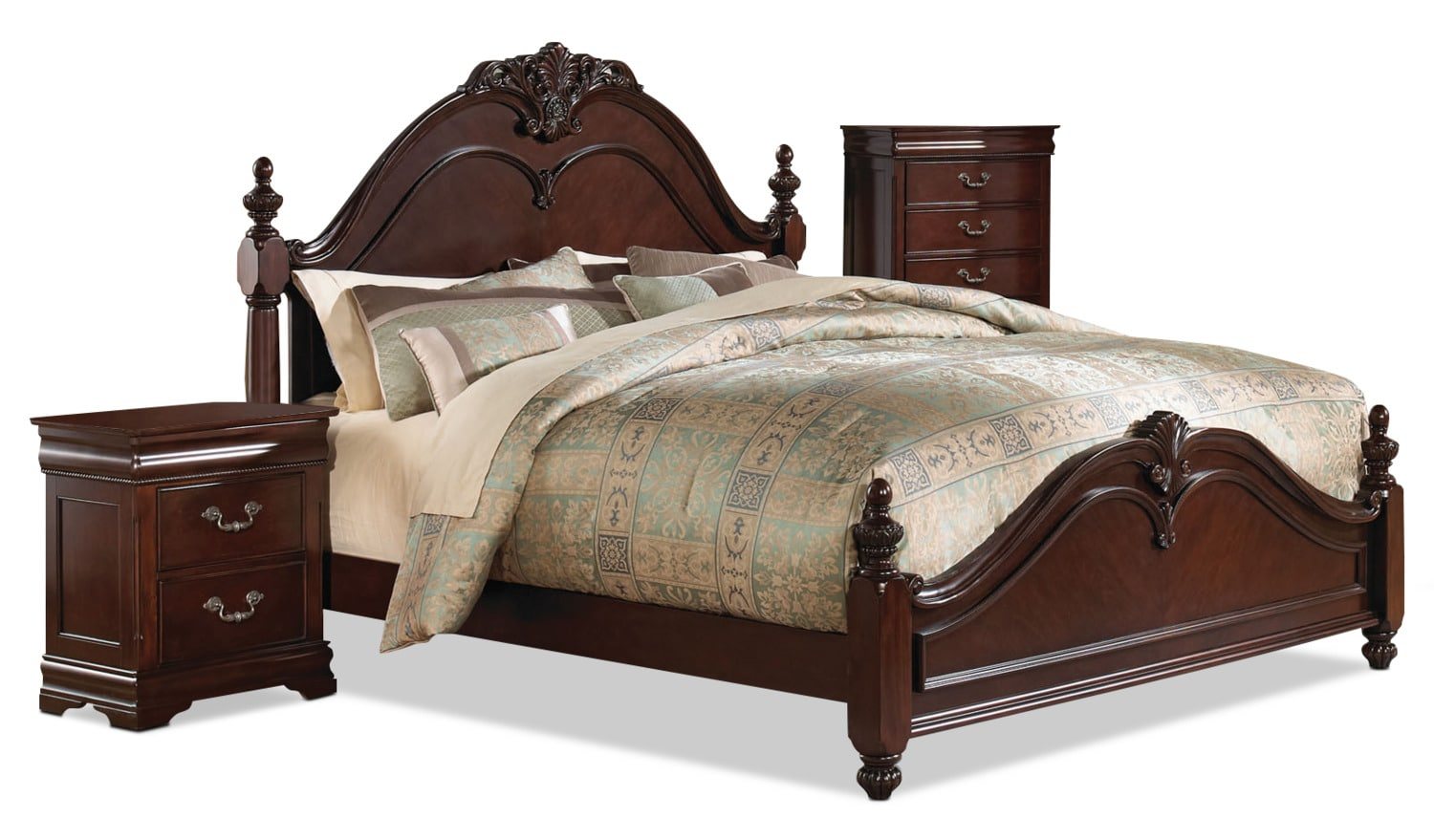 Westchester 5 Piece Queen Bedroom Package With Chest And Nightstand The Brick