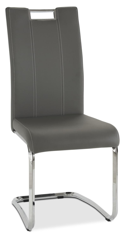 Chaise de salle manger tuxedo grise brick - Chaise grise salle a manger ...