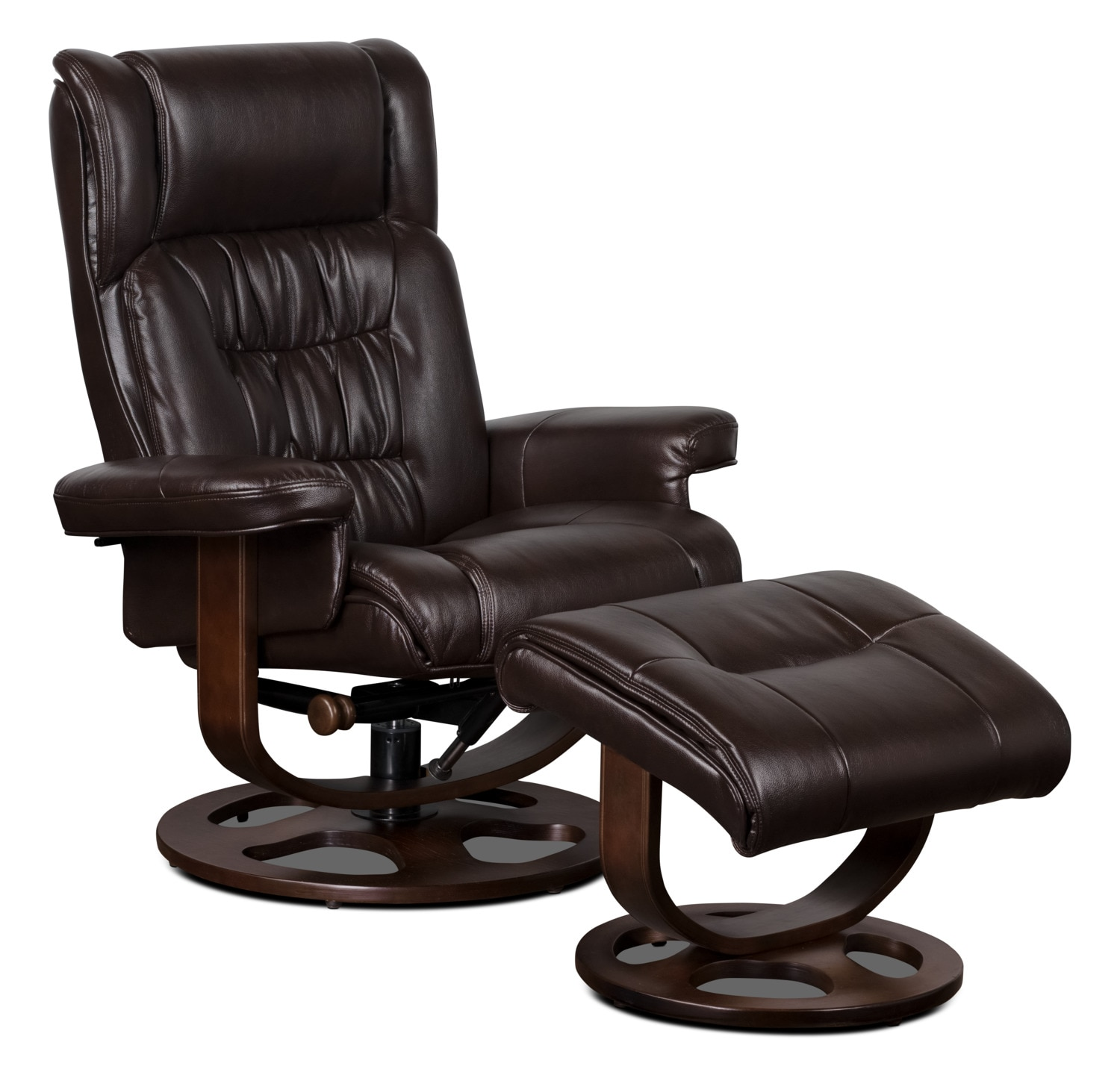 Benji Leather-Look Fabric Swivel Reclining Chair with ...