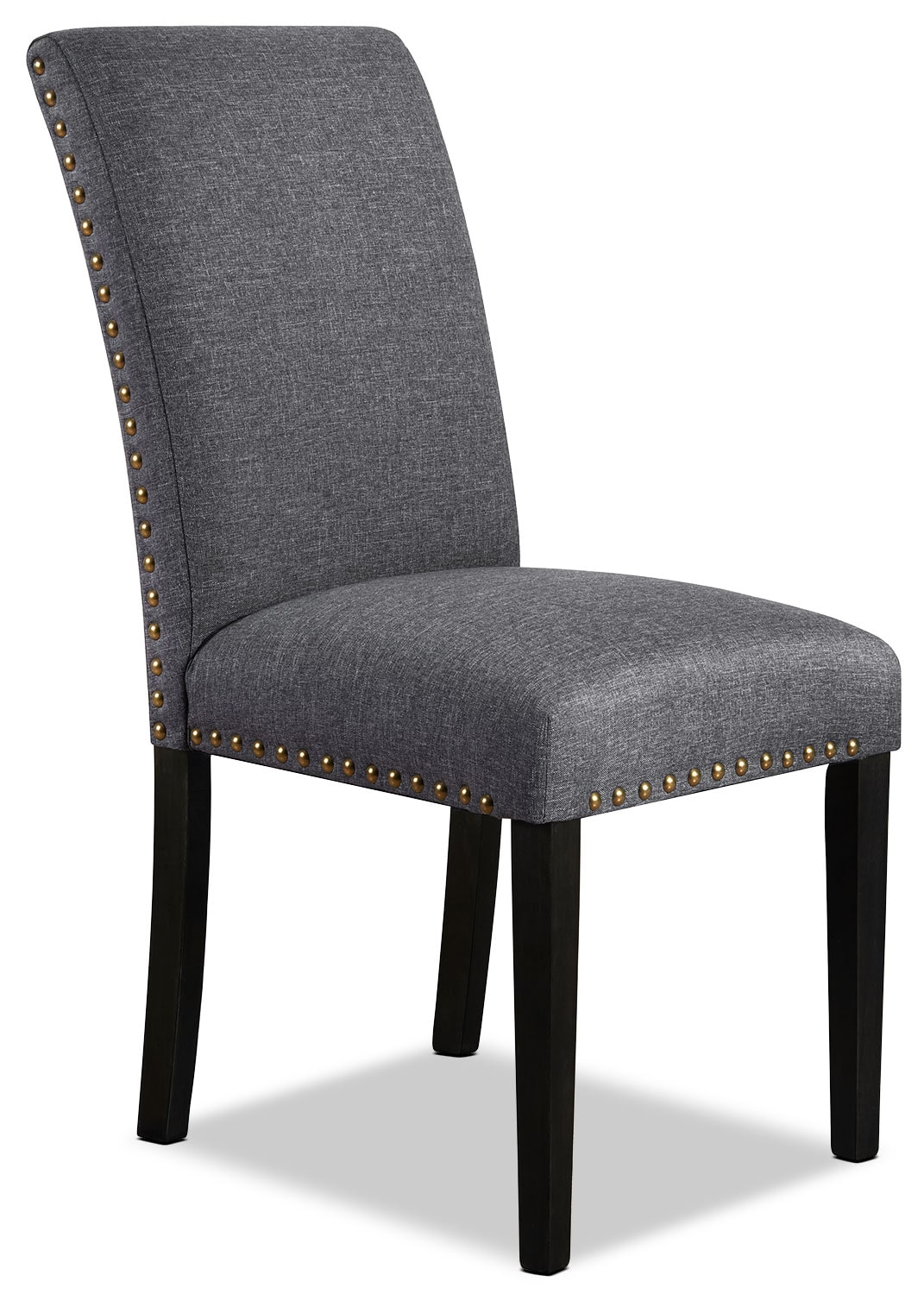 York studded dining chair grey the brick for Studded dining room chairs