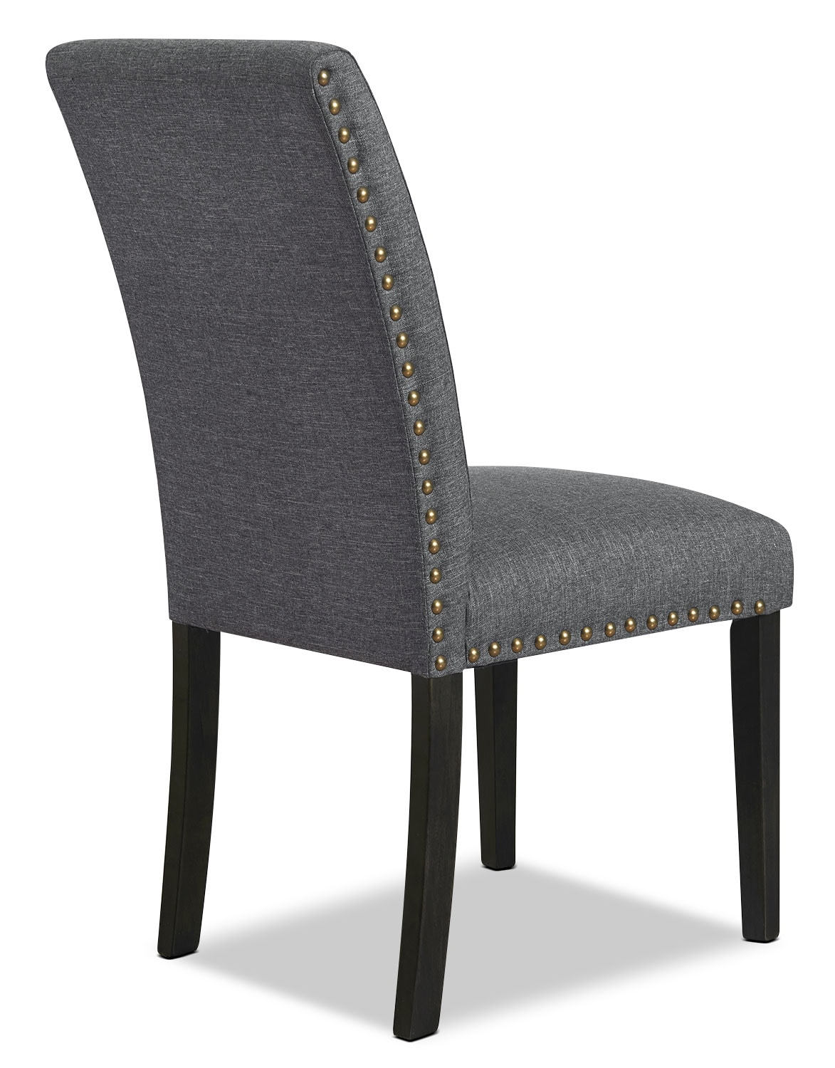York Studded Dining Chair Set Of 2 Grey The Brick