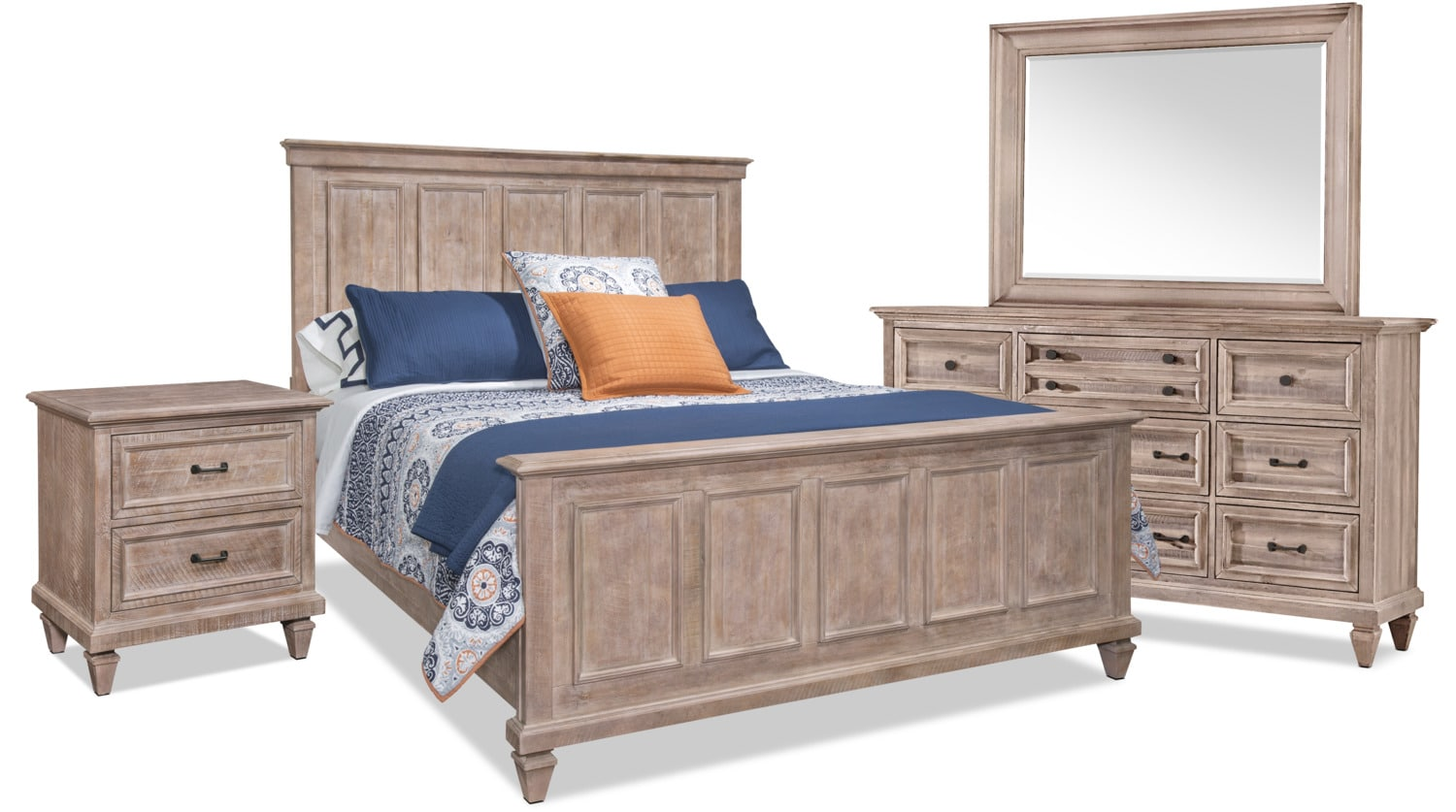 Calistoga 6-Piece Queen Bedroom Package – Dovetail Grey