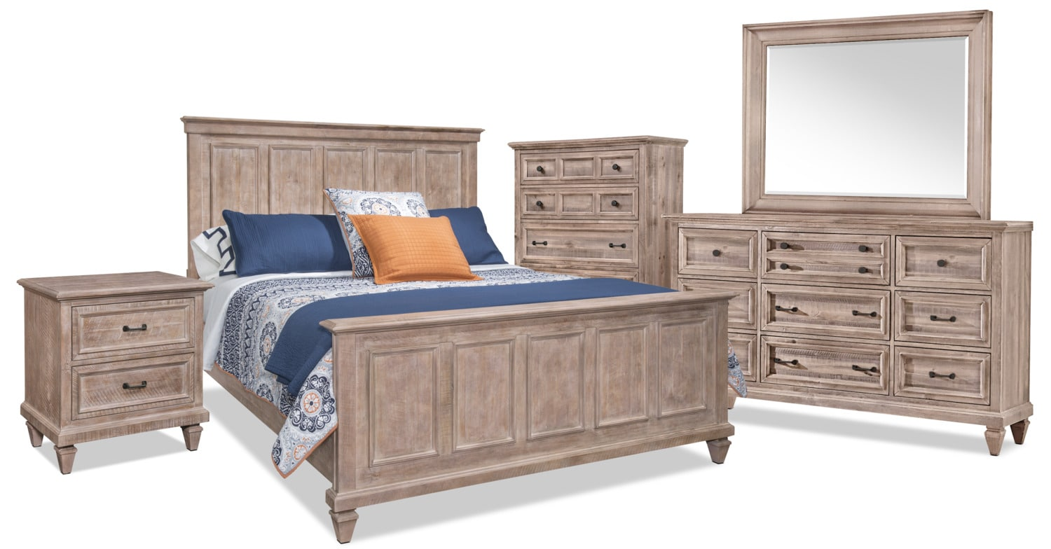 Calistoga 7-Piece King Bedroom Package – Dovetail Grey