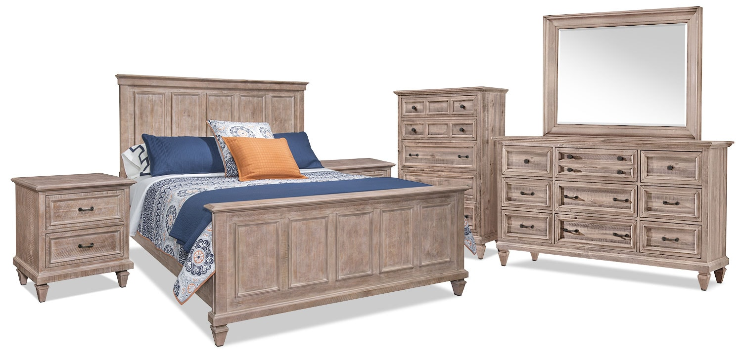 Calistoga 8-Piece Queen Bedroom Package – Dovetail Grey